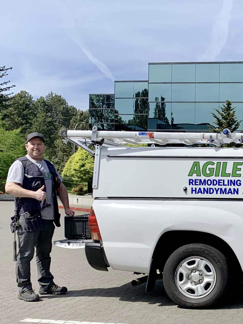 Cole with Agile truck